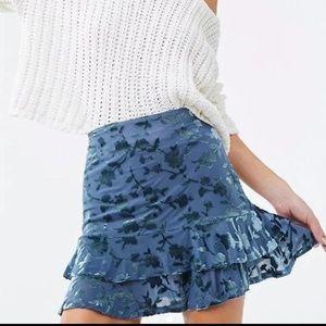 Forever 21 mini velvet skirt